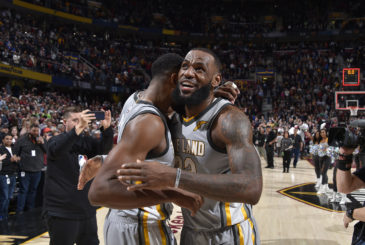 CLEVELAND, OH - FEBRUARY 7:  on February 7, 2018 at Quicken Loans Arena in Cleveland, Ohio. NOTE TO USER: User expressly acknowledges and agrees that, by downloading and/or using this Photograph, user is consenting to the terms and conditions of the Getty Images License Agreement. Mandatory Copyright Notice: Copyright 2018 NBAE  (Photo by David Liam Kyle/NBAE via Getty Images)