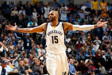 Dec. 5, 2014 - Memphis, TN, USA - The Memphis Grizzlies' Vince Carter argues a foul call during action against the San Antonio Spurs at the FedExForum in Memphis, Tenn., on Friday, Dec. 5, 2014. The Spurs won, 107-101.