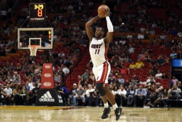 Oct 18, 2016; Miami, FL, USA; Miami Heat guard Dion Waiters (11) catches a high pass during the second half Orlando Magic at American Airlines Arena. The Heat won 103-77. Mandatory Credit: Steve Mitchell-USA TODAY Sports