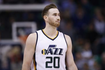 Dec 21, 2016; Salt Lake City, UT, USA;  Utah Jazz forward Gordon Hayward (20) reacts after missing a basket in the final seconds of the game against the Sacramento Kings at Vivint Smart Home Arena. The Sacramento Kings defeated the Utah Jazz 94-93. Mandatory Credit: Jeff Swinger-USA TODAY Sports