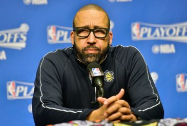 MEMPHIS, TN - APRIL 27:  Head coach David Fizdale of the Memphis Grizzlies speaks to the media prior to Game Six the Western Conference Quarterfinals game against the San Antonio Spurs during the 2017 NBA Playoffs at FedExForum on April 27, 2017 in Memphis, Tennessee. NOTE TO USER: User expressly acknowledges and agrees that, by downloading and or using this photograph, User is consenting to the terms and conditions of the Getty Images License Agreement.  (Photo by Frederick Breedon/Getty Images)