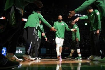 Out from under the NBA's biggest shadow, Kyrie Irving has led the Celtics to an Eastern Conference-best 30-10 record. Brian Babineau/NBA/Getty Images