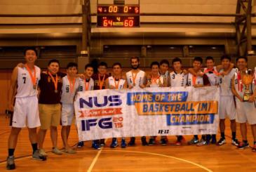 National University of Singapore Fakülteler Arası Lig 2015'in şampiyonu Tıp Fakültesi Basketbol Takımı