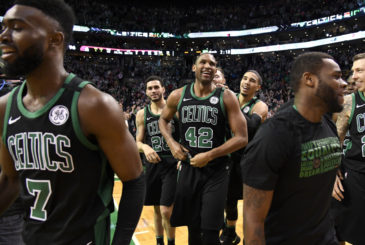 BOSTON, MA - FEBRUARY 4: Al Horford #42 of the Boston Celtics smiles after the game against the Portland Trail Blazers on February 4, 2018 at the TD Garden in Boston, Massachusetts. NOTE TO USER: User expressly acknowledges and agrees that, by downloading and or using this photograph, User is consenting to the terms and conditions of the Getty Images License Agreement. Mandatory Copyright Notice: Copyright 2018 NBAE (Photo by Brian Babineau/NBAE via Getty Images)