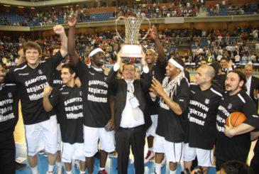 BASKETBOLDA BESIKTAS MILANGAZ, FIBA EUROCHALLANGE KUPASI FINALINDE FRANSIZ EKIBI ELAN CHALON TAKIMINI 91-86 YENEREK SAMPIYON OLDU. (ANADOLU AJANSI - MEHMET BASARAN) (20120430)