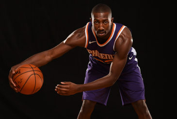 TARRYTOWN, NY - AUGUST 11:  Davon Reed #32 of the Phoenix Suns poses for a portrait during the 2017 NBA Rookie Photo Shoot at MSG training center on August 11, 2017 in Tarrytown, New York.  NOTE TO USER: User expressly acknowledges and agrees that, by downloading and or using this photograph, User is consenting to the terms and conditions of the Getty Images License Agreement. (Photo by Brian Babineau/Getty Images)