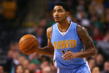 BOSTON, MA - JANUARY 27:  Gary Harris #14 of the Denver Nuggets carries the ball against the Boston Celtics during the second quarter at TD Garden on January 27, 2016 in Boston, Massachusetts. NOTE TO USER: User expressly acknowledges and agrees that, by downloading and/or using this photograph, user is consenting to the terms and conditions of the Getty Images License Agreement.  (Photo by Maddie Meyer/Getty Images)