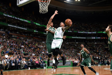 BOSTON, MA - MARCH 29: Isaiah Thomas #4 of the Boston Celtics goes for a lay up during the game against the Milwaukee Bucks on March 29, 2017 at TD Garden in Boston, Massachusetts. NOTE TO USER: User expressly acknowledges and agrees that, by downloading and or using this Photograph, user is consenting to the terms and conditions of the Getty Images License Agreement. Mandatory Copyright Notice: Copyright 2017 NBAE (Photo by Brian Babineau/NBAE via Getty Images)