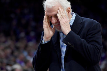 SACRAMENTO, CA - OCTOBER 27:  Head coach Gregg Popovich of the San Antonio Spurs reacts to a foul call on one of his players during the fourth quarter of an NBA basketball game against the Sacramento Kings at Golden 1 Center on October 27, 2016 in Sacramento, California. NOTE TO USER: User expressly acknowledges and agrees that, by downloading and or using this photograph, User is consenting to the terms and conditions of the Getty Images License Agreement.  (Photo by Thearon W. Henderson/Getty Images)