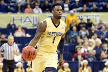 Dec 23, 2015; Pittsburgh, PA, USA; Pittsburgh Panthers forward Jamel Artis (1) brings the ball up court against the Western Carolina Catamounts during the second half at the Petersen Events Center. PITT won 79-73. Mandatory Credit: Charles LeClaire-USA TODAY Sports