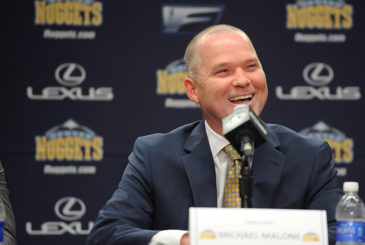 DENVER, CO - JUNE 16:  The Denver Nuggets introduce their new head coach Mike Malone on June 16, 2015 at the Pepsi Center in Denver, Colorado. NOTE TO USER: User expressly acknowledges and agrees that, by downloading and/or using this Photograph, user is consenting to the terms and conditions of the Getty Images License Agreement. Mandatory Copyright Notice: Copyright 2015 NBAE (Photo by Bart Young/NBAE via Getty Images)