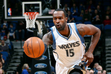 MINNEAPOLIS, MN - DECEMBER 10: Shabazz Muhammad #15 of the Minnesota Timberwolves drives against the Portland Trail Blazers on December 10, 2014 at Target Center in Minneapolis, Minnesota. NOTE TO USER: User expressly acknowledges and agrees that, by downloading and or using this Photograph, user is consenting to the terms and conditions of the Getty Images License Agreement. Mandatory Copyright Notice: Copyright 2014 NBAE (Photo by David Sherman/NBAE via Getty Images)