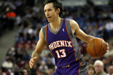 February 5, 2010; Sacramento, CA, USA; Phoenix Suns guard Steve Nash (13) dribbles the ball against the Sacramento Kings in the first half at Arco Arena. The Suns defeated the Kings 114-102. Mandatory Credit: Cary Edmondson-US PRESSWIRE ORIG FILE ID:  20100205_tjg_se9_169.jpg